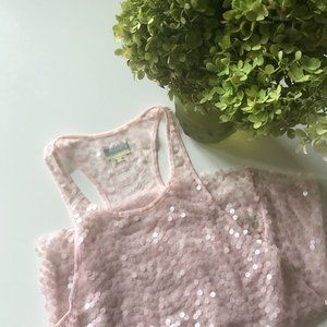 Intimately Free People Pink Sequin Racerback Tank